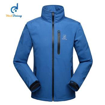 秋冬男士软壳冲锋衣正品 防风保暖加厚修身 休闲运动登山滑雪服