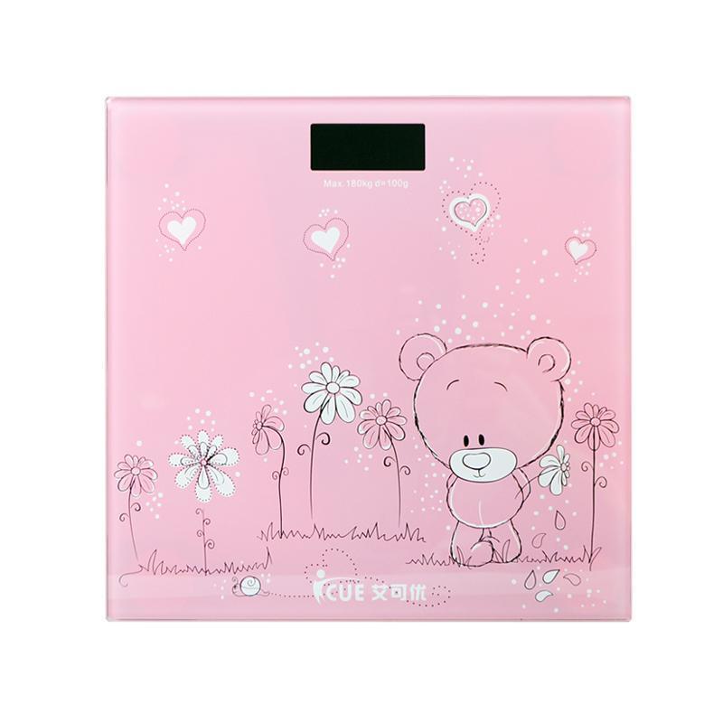 粉色小熊人体秤
