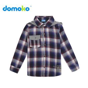 大拇哥童装 秋冬新款儿童衬衫男童长袖纯棉格子韩版休闲衬衣秋装