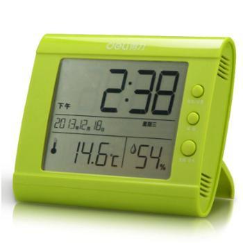 得力9026 温湿度计 多功能电子钟 大屏幕显示 温湿度计