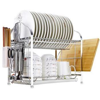 SAKURA厨房置物架碗架沥水架碗碟架用品用具晾碗筷壁挂收纳2层