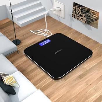 千选usb可充电电子称体重秤家用健康成人精准人体秤减肥称重计器