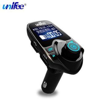 unifee车载mp3播放器汽车音乐蓝牙免提FM发射点烟器式手机充电