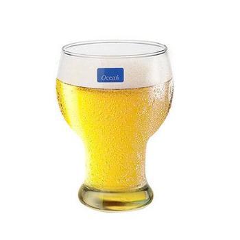 泰国进口Ocean无铅玻璃杯啤酒杯耐热水杯果汁饮料杯牛奶杯6只套装