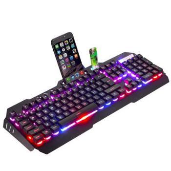 真机械手感键盘游戏电脑台式笔记本发光背光外设USB有线吃鸡网吧