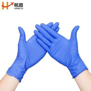 一次性手套丁腈橡胶丁晴乳胶男女厨房用家用实验科研检查防护纹绣