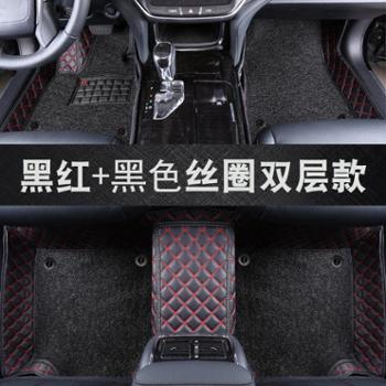 速驰专用于日产奇骏2019款骐达蓝鸟新逍客经典轩逸天籁全包围汽车脚垫丝圈皮革可拆卸款