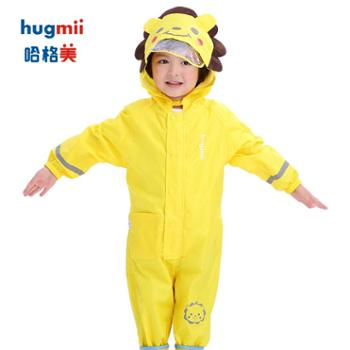 hugmii儿童连体雨衣春夏款卡通立体造型男女童宝宝小孩透气雨披