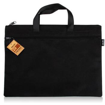 得力5840手提袋双层收纳袋购物袋手拎袋公文袋文件收纳袋商务出差电脑包补习袋补习包