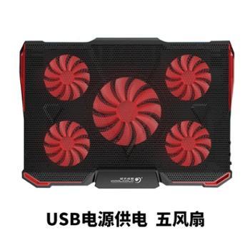 冰魔4笔记本散热器15.6寸联想华硕苹果电脑排风扇散热底座戴尔17