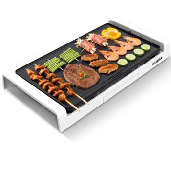 美菱烤肉机烧烤炉家用无烟电烤盘烤肉盘韩式多功能烤肉锅电烤炉盘