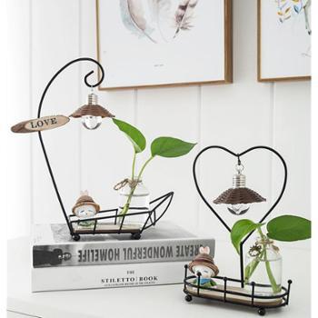 水培植物玻璃花瓶装饰创意礼品电视柜摆件办公桌客厅可爱兔子