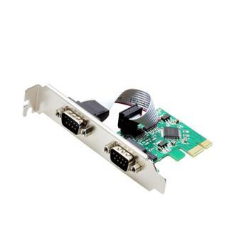 DIEWU PCI-E串口卡电脑台式机com口Pcie转RS232接口 双串口扩展卡