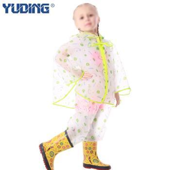 儿童雨衣套装男童女童款韩国书包位斗篷雨披雨裤分体户外可配雨鞋
