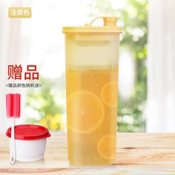 特百惠纤巧壶冷水壶2l家用大容量塑料带滤格自制水果酵素凉水壶