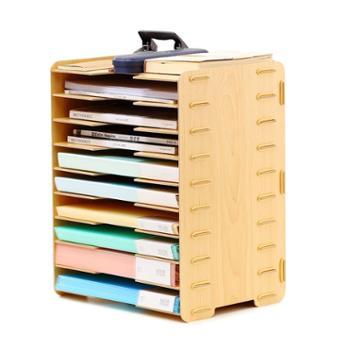 文件夹收纳盒多层文件收纳架子桌面办公用品文件框资料架办公室档案架多格办公桌收纳文件分类架文件架