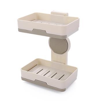 Dozi浴室带盖双层沥水肥皂盒简约手工皂架