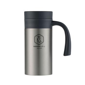 KS凯斯真空办公杯400ml大容量有手柄带过滤茶隔泡茶杯KS-662
