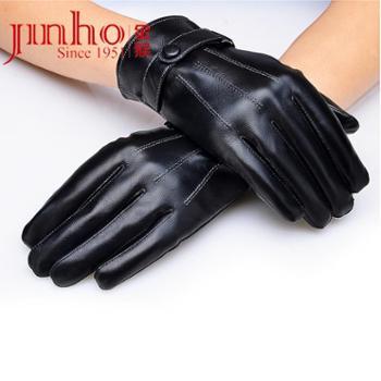 金猴jinho真皮羊皮男士商务手套全掌触屏保暖SKQJS001