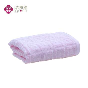 洁丽雅6415素雅全棉毛巾1条装