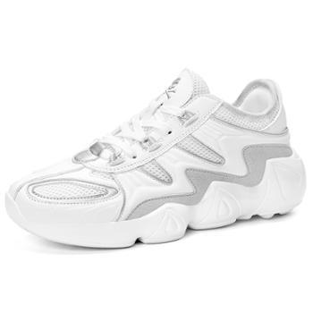 欧美时尚个性男鞋网布透气休闲运动鞋轻盈百搭男士跑步鞋 ah199