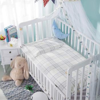 山西绿洲7402麻棉儿童凉席两件套 带枕巾 天然 吸汗 舒适 透气 防螨 凉而不冰