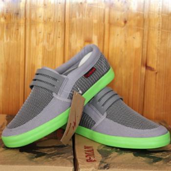 双星时尚休闲LM183布胶鞋网鞋