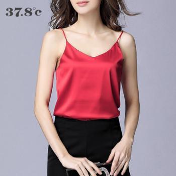 37.8度女士修身四季通用背心百搭显瘦舒服透气性感透气吊带背心