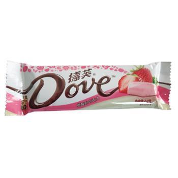 德芙水果曲奇白巧克力条装42g草莓味