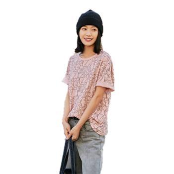 乐拜夏季女装短袖T恤91213