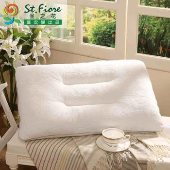 富安娜出品 圣之花家纺 短毛绒枕头枕芯柔美亲肤枕