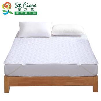 富安娜出品圣之花家纺保护垫薄垫席褥子床垫1.8m加大橡筋款舒柔薄床垫