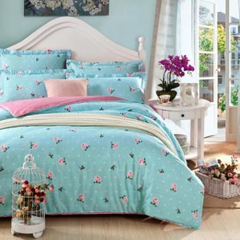安琪尔家纺 床上用品 全棉印花被套 双人被罩 200*230