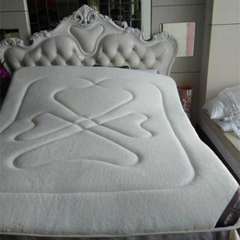 安琪尔家纺加厚保暖羊羔绒榻榻米防滑床垫床褥子学生单人双人床护垫垫被