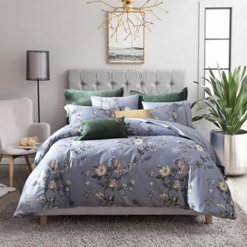 梦洁出品MAISON优雅舒缓轻奢体验长绒棉活性印花高支数套件 维罗纳庄园
