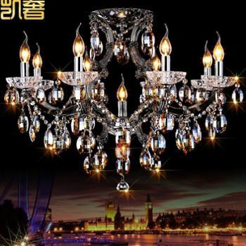 凯奢埃及进口水晶灯矮户型客厅餐厅水晶吸顶灯欧式蜡烛灯