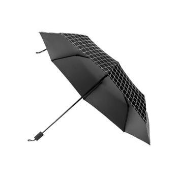 三折八骨双人伞学生商务折叠黑胶格子简约防晒广告礼品定制