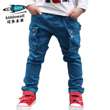 童装儿童男童2013春装新款宝宝时尚韩版纯色水洗休闲裤潮