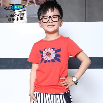 可多未来童装 男童韩版铅笔图案短袖T恤