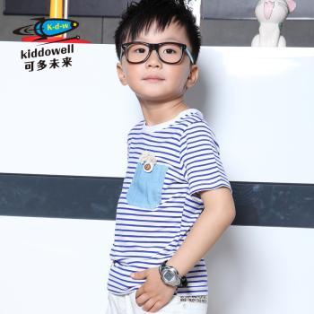 可多未来童装 男童海军海魂t恤衫