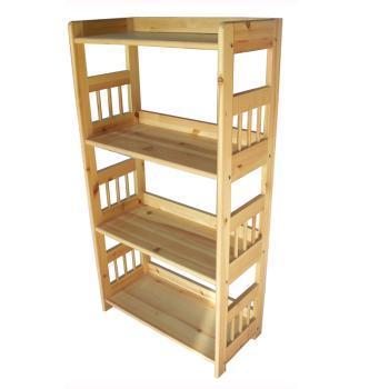 缔造舒闲松木原色四层分体多用书架