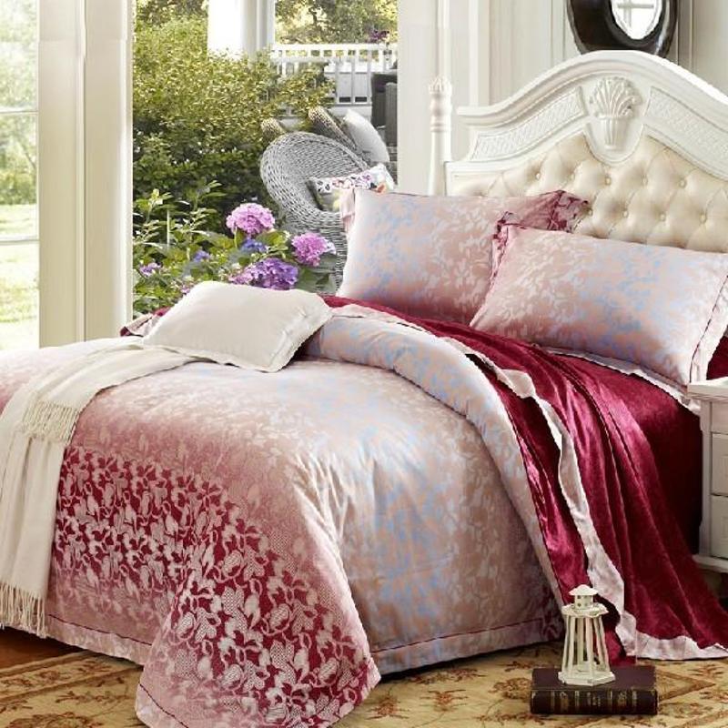 丝立方家纺 秋冬新品 欧式贡缎活性印花四件套 全棉床上用品