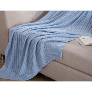 全棉针织多用毯
