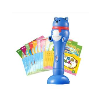 纽曼(Newsmy)18A蓝4G点读笔双语早教机学习点读机幼儿童宝宝益智玩具0-3-4-6岁亲子启蒙套装