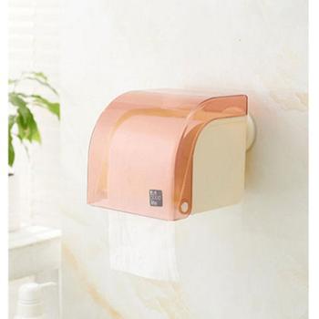 崔斯特卫生间纸巾盒 防水纸巾架 卫生纸盒吸盘免打孔厕纸盒