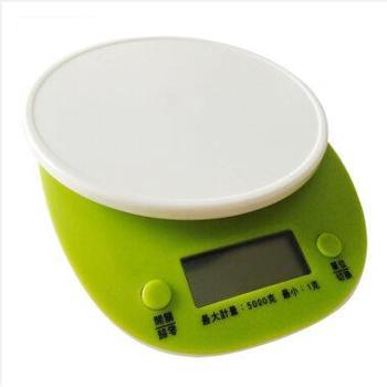 克来比烘焙厨房秤电子秤迷你家用电子天平食物克秤台秤小秤KLB1021绿色1-5000g