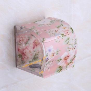 厕所卫生间纸巾盒卷纸架厕纸盒塑料亚克力防水 免打孔创意手纸盒