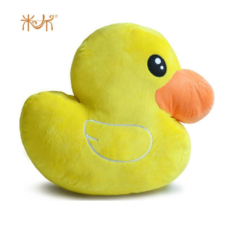 米布 鸭鸭子玩偶靠垫抱枕毛绒玩具可爱布娃娃公仔玩偶创意生日礼物