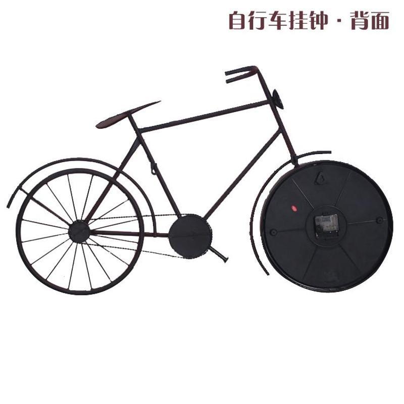 a欧式古典复古创意饰品艺术自行车型挂钟表