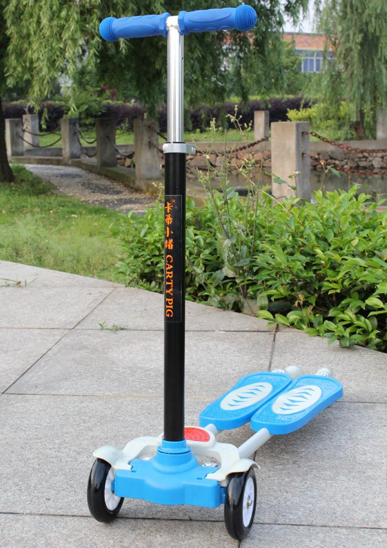 可升降蛙式滑板车 儿童滑板车 四轮滑板车